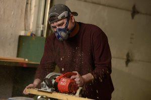 test demi-masque peinture Elipse P3